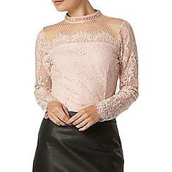 Dorothy Perkins - Blush beaded lace top