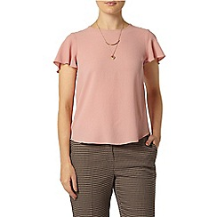 Dorothy Perkins - Pink soft split back t-shirt