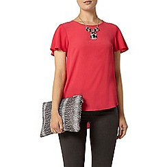 Dorothy Perkins - Raspberry split back t-shirt