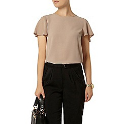 Dorothy Perkins - Stone split back t-shirt