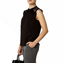 Dorothy Perkins - Black lace insert top