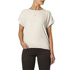 Dorothy Perkins - Ivory woven insert t-shirt