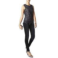 Dorothy Perkins - Tall grey sequin shell top
