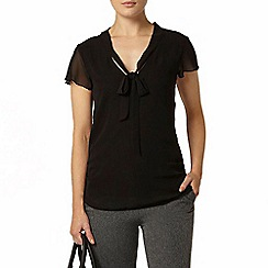 Dorothy Perkins - Black pussy bow blouse
