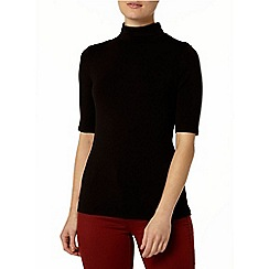 Dorothy Perkins - Black jersey roll neck top