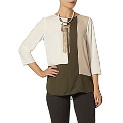 Dorothy Perkins - Ivory colour block top