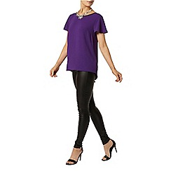 Dorothy Perkins - Purple flutter sleeve top
