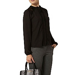 Dorothy Perkins - Black lace insert shirt