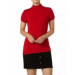 Dorothy Perkins - Red short sleeve polo top