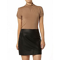Dorothy Perkins - Sand short sleeve polo top