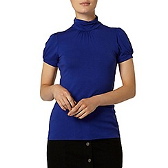 Dorothy Perkins - Blue short sleeve polo necktop