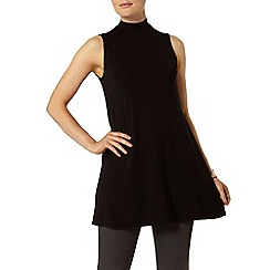 Dorothy Perkins - Black sleeveless tunic