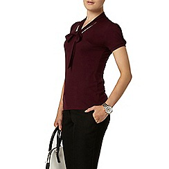 Dorothy Perkins - Mulberry pussybow jersey top