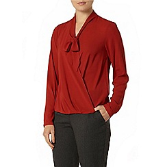 Dorothy Perkins - Wine wrap pussybow blouse