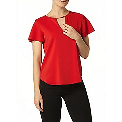 Dorothy Perkins - Red key hole top