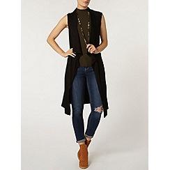 Dorothy Perkins - Black sleeveless jersey jacket