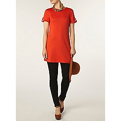 Dorothy Perkins - Orange roll tab tunic