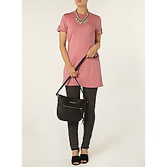 Dorothy Perkins - Pink roll tab tunic