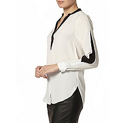 Dorothy Perkins - Ivory contrast placket blouse
