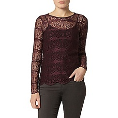 Dorothy Perkins - Mulberry button back top