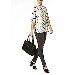 Dorothy Perkins - Heart print roll sleeve shirt