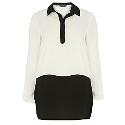 Dorothy Perkins - Tall ivory colourblock blouse
