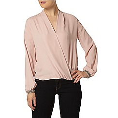 Dorothy Perkins - Pink embellished cuff blouse