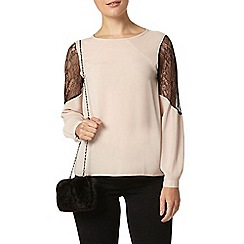 Dorothy Perkins - Nude lace insert blouse