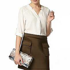 Dorothy Perkins - Ivory roll sleeve shirt