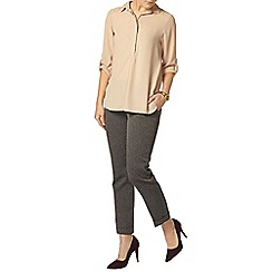 Dorothy Perkins - Stone collar roll sleeve shirt