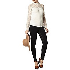 Dorothy Perkins - Ivory lace long sleeve top