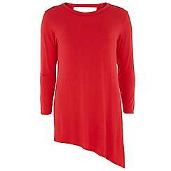 Dorothy Perkins - Tall red asymmetric top