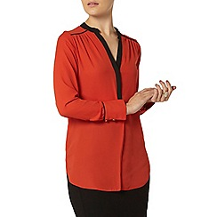 Dorothy Perkins - Orange contrast placket shirt