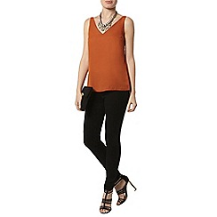 Dorothy Perkins - Rust deep v camisole top