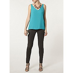 Dorothy Perkins - Aqua deep v neck camisole top