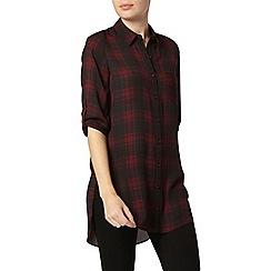 Dorothy Perkins - Red and black check shirt