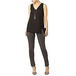 Dorothy Perkins - Black v neck shell top