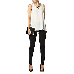 Dorothy Perkins - Ivory v neck shell top