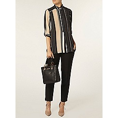 Dorothy Perkins - Stripe collar rollsleeve shirt