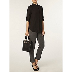 Dorothy Perkins - Black collar rollsleeve shirt