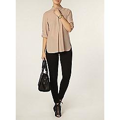 Dorothy Perkins - Stone collar rollsleeve shirt