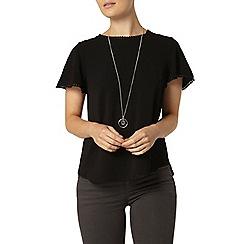 Dorothy Perkins - Black pom pom t-shirt