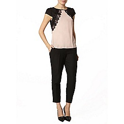 Dorothy Perkins - Blush contrast lace top