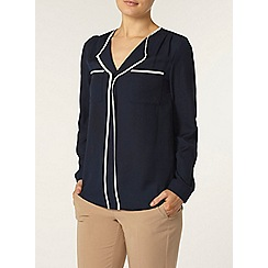 Dorothy Perkins - Navy long sleeve shirt