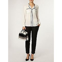 Dorothy Perkins - Ivory and black tipped shirt