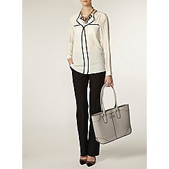 Dorothy Perkins - Ivory long sleeve tipped shirt