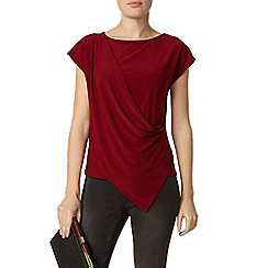 Dorothy Perkins - Oxblood jersey wrap top
