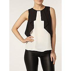 Dorothy Perkins - Black and white sleeveless top