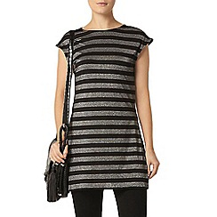 Dorothy Perkins - Grey and black stripe tunic