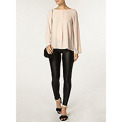 Dorothy Perkins - Blush bell sleeve popcorn top